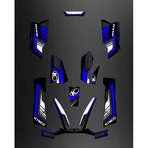 Kit Deco Limitata Blu - Kymco 550 / 700 MXU -idgrafix