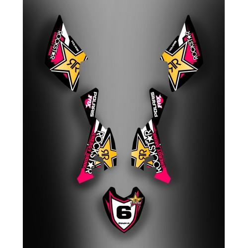 - Deko-Kit Rockstar-Girly, für Polaris Outlaw (2009-) -idgrafix