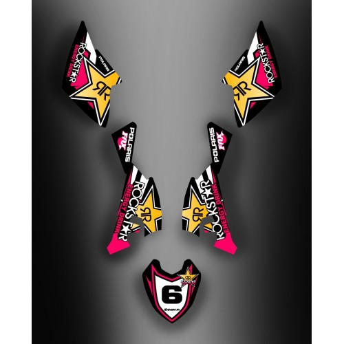 Kit déco Rockstar Girly pour Polaris Outlaw (2009-)-idgrafix