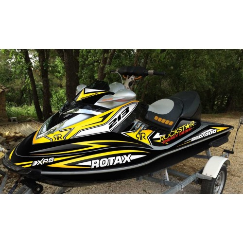 Kit decoration Rockstar energy Yellow for Seadoo RXT 215-255-idgrafix