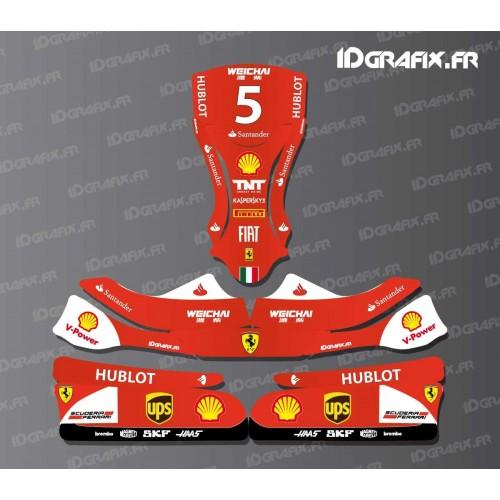 Kit déco F1-series Scuderia pour Karting KG EVO 11-idgrafix