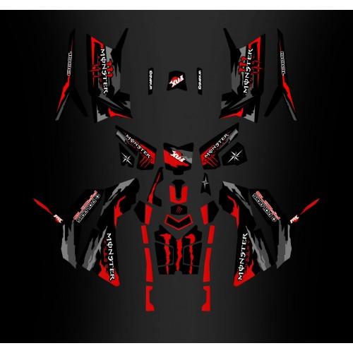 Decoració de Fotografia - Kit décoration Monster Red Edition (Full) - IDgrafix - Polaris 850/1000 Scrambler