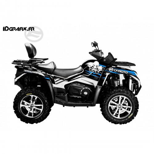 Kit deco Dead Blue Full - CF MOTO CForce 800-idgrafix