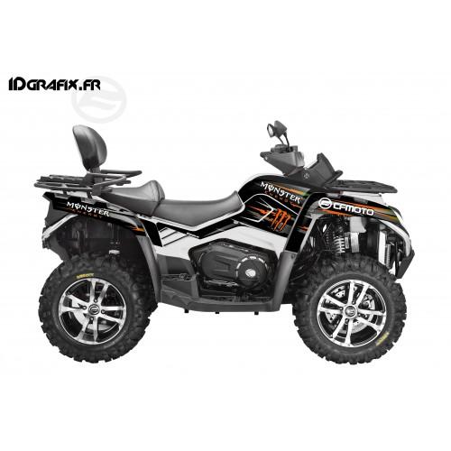 - Deko-Kit 100 % - Def Monster Green Full - CF MOTO CForce 800 -idgrafix