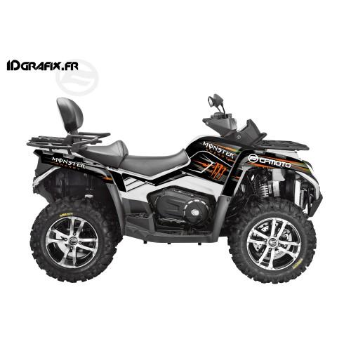 - Deko-Kit 100 % - Def Monster Orange Full - CF MOTO CForce 800 -idgrafix