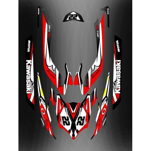 Kit decorazione Rosso LTD Completo per Kawasaki Ultra 250/260/300/310R -idgrafix