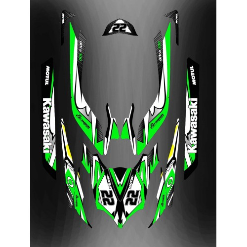 Kit décoration Green LTD Full pour Kawasaki Ultra 250/260/300/310R-idgrafix