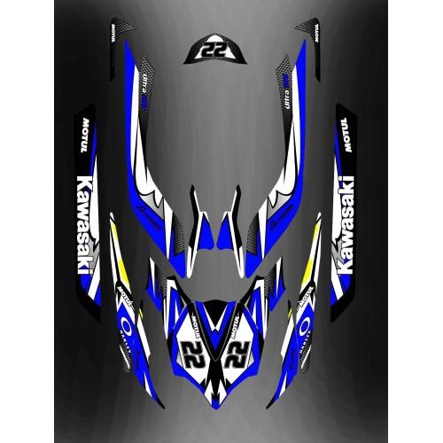 Kit de decoración Azul LTD Completo para Kawasaki Ultra 250/260/300/310R -idgrafix