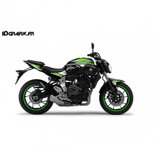 foto del kit, di decorazioni, Kit di decorazione della Serie GP Verde - IDgrafix - Yamaha MT-07