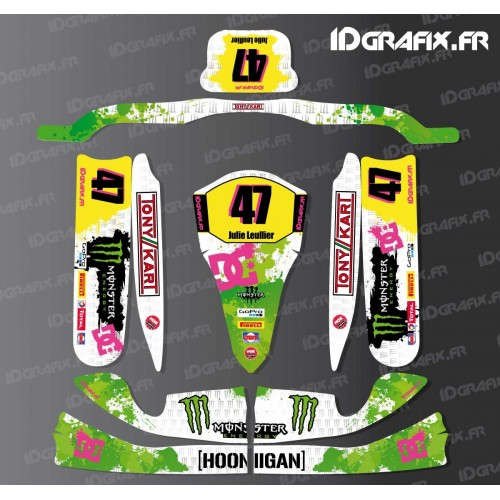 Kit deco 100 % Custom Monster for Karting TonyKart M4-idgrafix