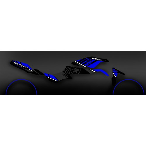 Kit décoration 100% Perso Monster Bleu - IDgrafix - Yamaha MT-07