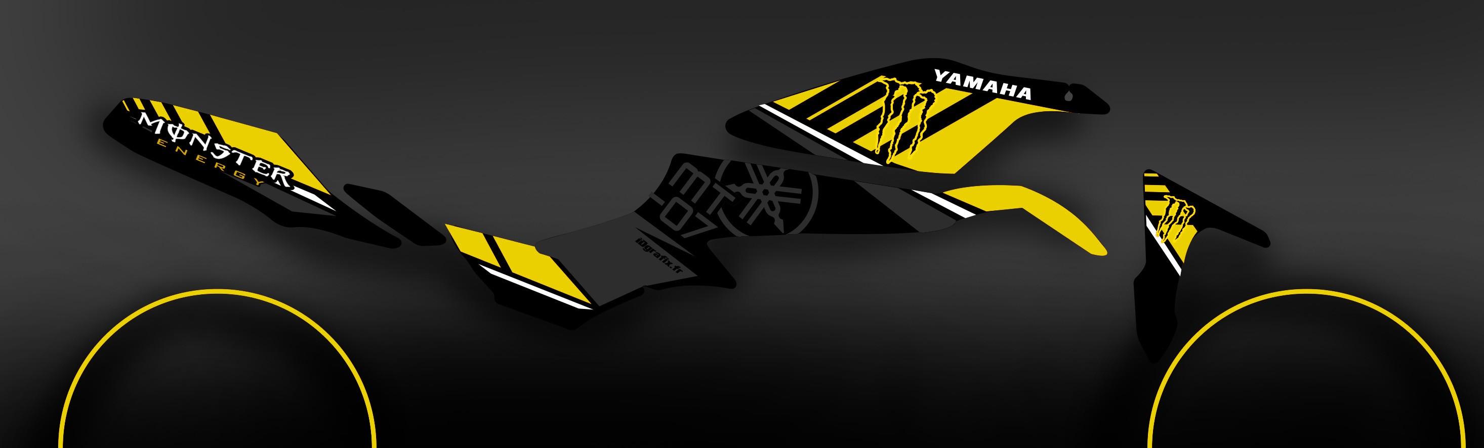 kit decoration 100 custom monster yellow idgrafix. Black Bedroom Furniture Sets. Home Design Ideas