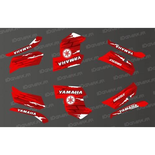 Kit decorazione LTD Rosso - IDgrafix - Yamaha Grizzly 550-700 -idgrafix