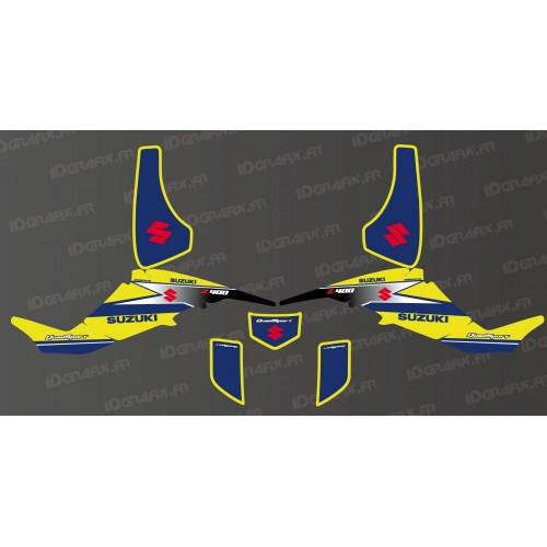 Kit décoration Racing Team Jaune - IDgrafix - Suzuki LTZ 400-idgrafix