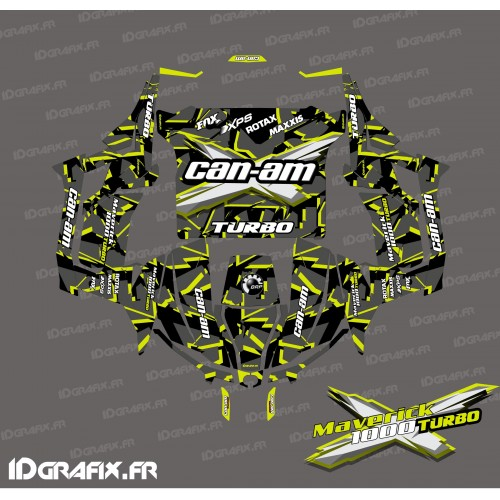 Kit décoration Broken series (Jaune Turbo) - Idgrafix - Can Am 1000 Maverick