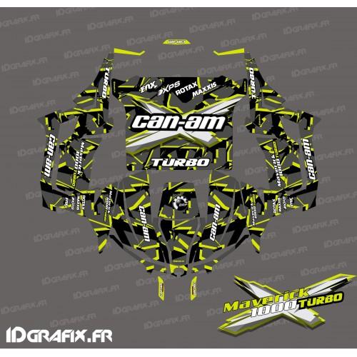 Kit de decoración Roto de la serie (Amarillo Turbo) - Idgrafix - Can Am 1000 Maverick -idgrafix