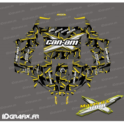 Kit décoration Broken series (Jaune) - Idgrafix - Can Am 1000 Maverick