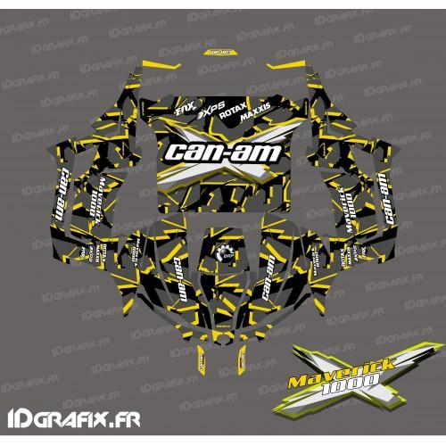 Kit de decoración Roto de la serie (Amarillo) - Idgrafix - Can Am 1000 Maverick -idgrafix