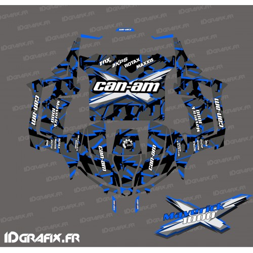 Kit décoration Broken series (Bleu) - Idgrafix - Can Am 1000 Maverick