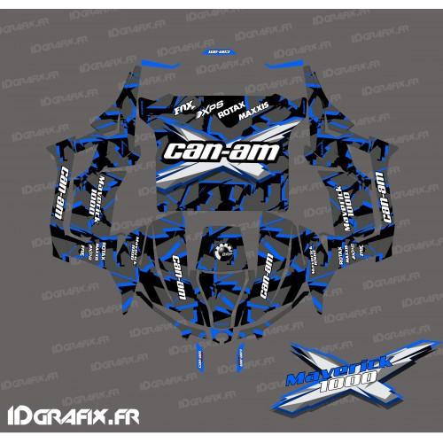 Kit de decoración Roto de la serie (Azul) - Idgrafix - Can Am 1000 Maverick -idgrafix