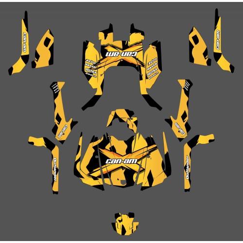 Kit de decoración de Babe serie (Amarillo) - IDgrafix - Can Am Outlander G2 -idgrafix