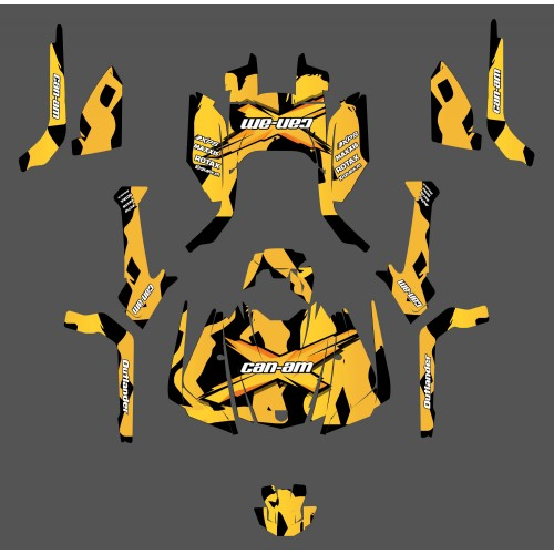 Kit decoration Babe series (Yellow) - IDgrafix - Can Am Outlander G2