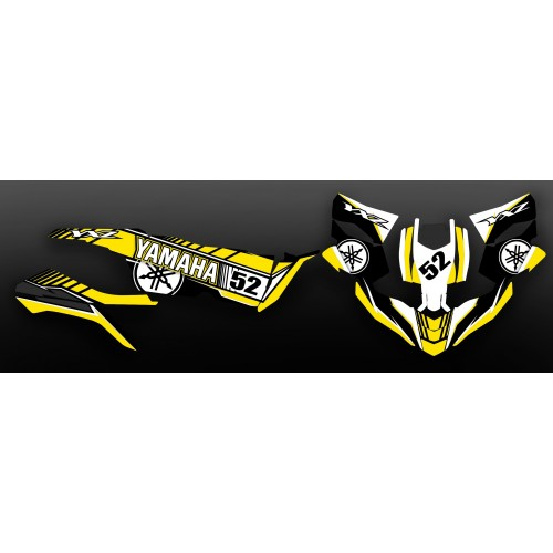 Kit déco Race series - Yellow Yamaha YXZ 1000-idgrafix