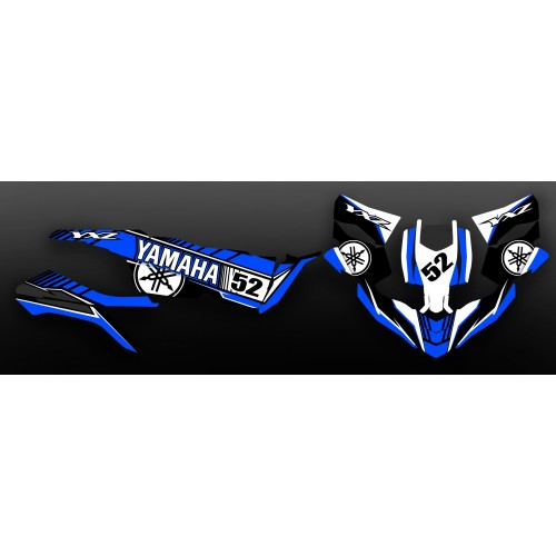 Kit de decoracion serie de carreras-color Azul - Yamaha YXZ 1000