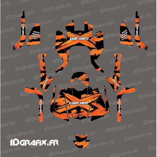 Kit decoration Snatch series (orange) - IDgrafix - Can Am Outlander G2