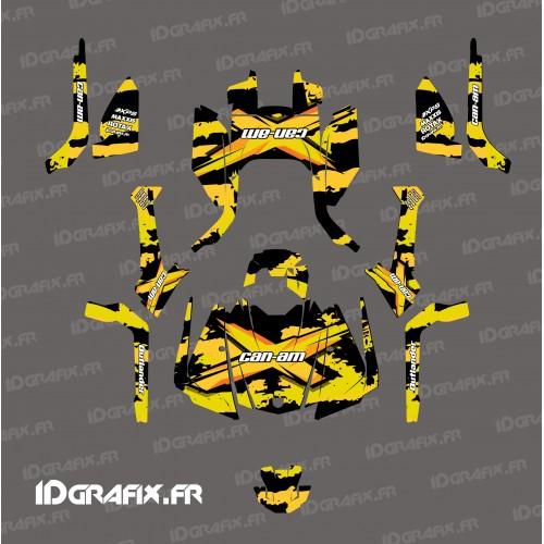 Kit decorazione Strappare serie (Giallo) - IDgrafix - Can Am Outlander G2