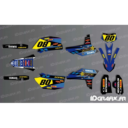 Kit décoration Factory series Bleu - IDgrafix - Yamaha WR 250-450-idgrafix
