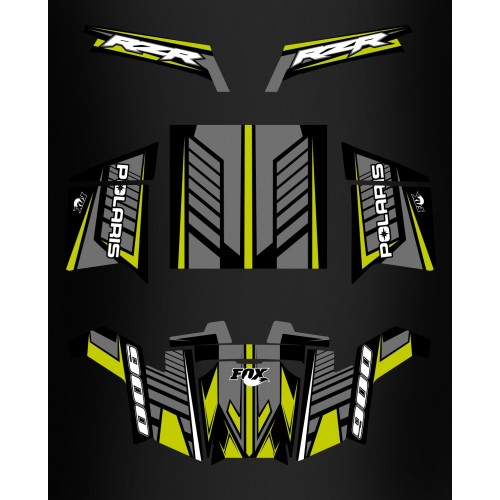Kit de decoración de Fox Edition - IDgrafix - Polaris RZR 900 XP