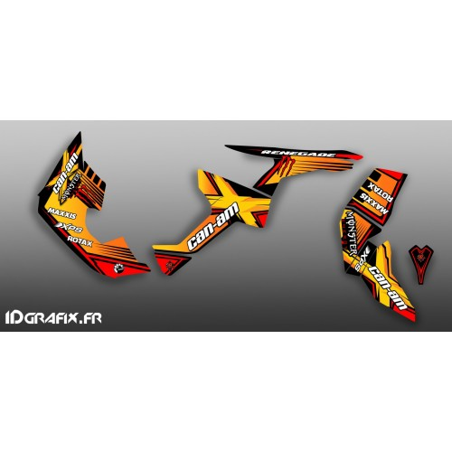 Kit decoration 100% Custom Monster Full (Yellow)- IDgrafix - Can Am Renegade - IDgrafix