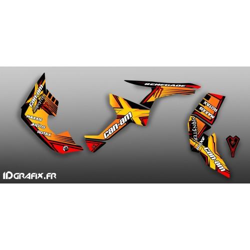 Kit decorazione 100% Personalizzato Mostro Pieno (Giallo)- IDgrafix - Can Am Renegade