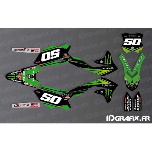 Kit deco NOS Ama Pro Circuito serie para Kawasaki KX/KXF -idgrafix