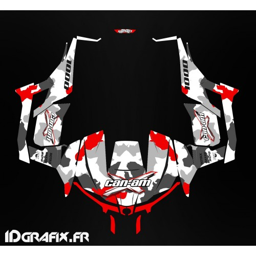 Kit décoration Army series (Rouge) - Idgrafix - Can Am 1000 Maverick