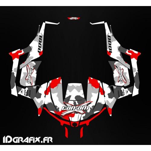 Kit decorazione Esercito di serie (Rosso) - Idgrafix - Can Am Maverick 1000 -idgrafix