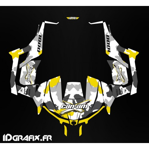 Kit décoration Army series (Jaune) - Idgrafix - Can Am 1000 Maverick