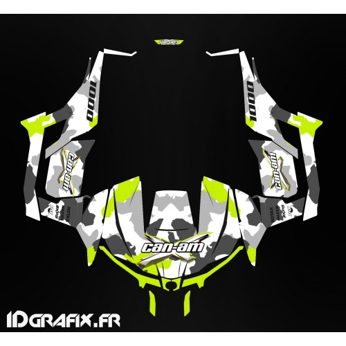 Kit de decoración de Ejército de la serie (Amarillo Turbo) - Idgrafix - Can Am 1000 Maverick -idgrafix