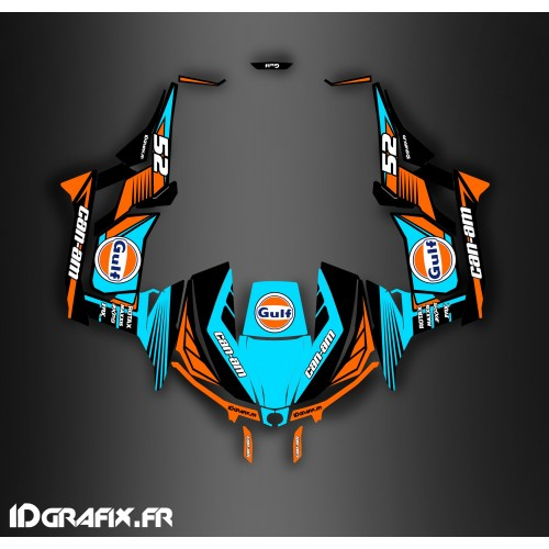 Kit decoration 100% Custom Gulf series (Blue) - Idgrafix - Can Am 1000 Maverick