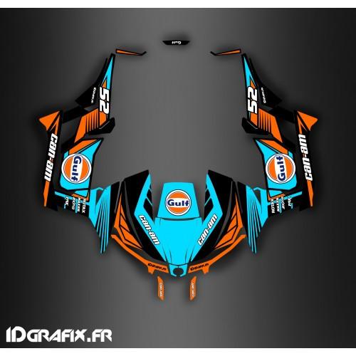 Kit dekor 100% Persönlich Gulf series (Blau) - Idgrafix - Can Am Maverick 1000 -idgrafix