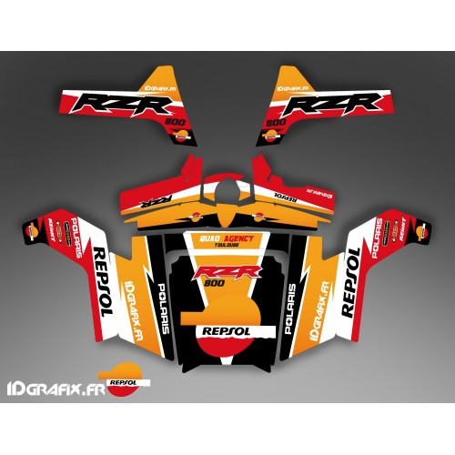 Kit de decoración de Repsol Edition - IDgrafix - Polaris RZR 800 / 800 -idgrafix