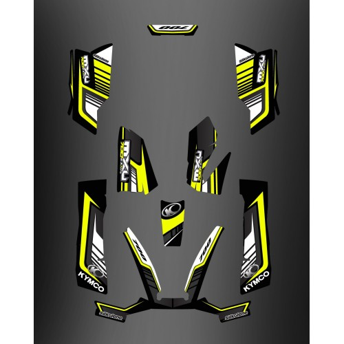 Kit Deco 700exi Limited Yellow - Kymco 700 MXU-idgrafix