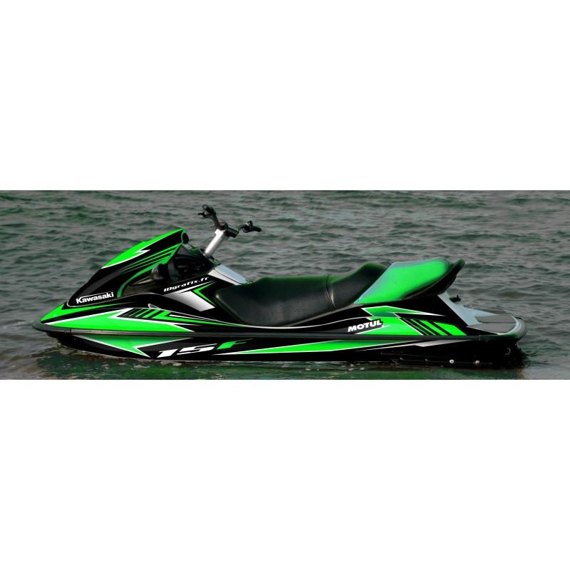 Kawasaki Stx 15f >> Kit Decoration Race Series Green For Kawasaki Stx 15f