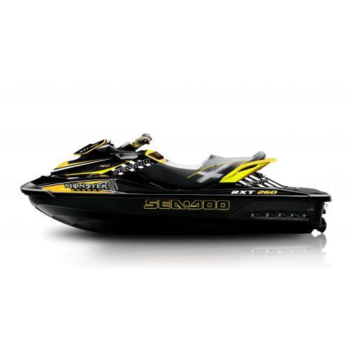 Kit de décoration Monstruo Amarillo para Seadoo RXT 260 / 300 (S3 casco) -idgrafix