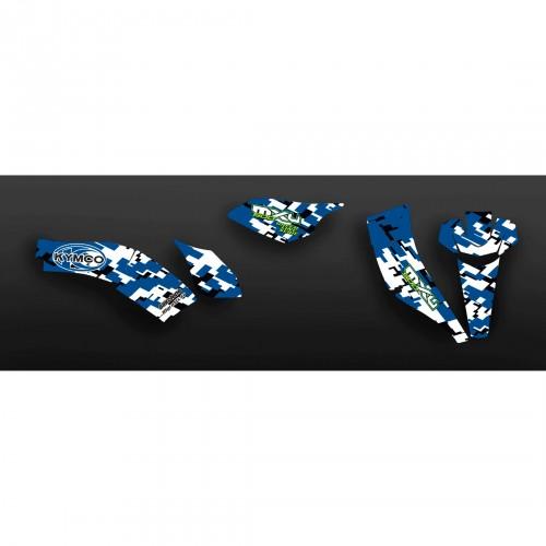 Kit Déco Digital Camo Bleu - Kymco 500 MXU-idgrafix