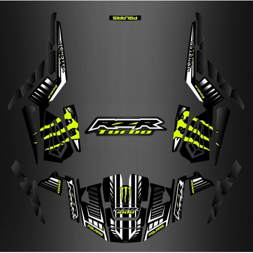 Kit decoration 100% Custom Monster Carbon - IDgrafix - Polaris RZR 1000 TURBO