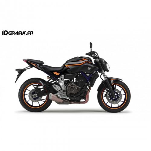 Kit de decoración de Carreras de Naranja - IDgrafix - Yamaha MT-07 -idgrafix