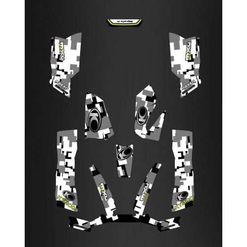 Kit Deco Camo Digitale Grigio - Kymco 550 / 700 MXU -idgrafix