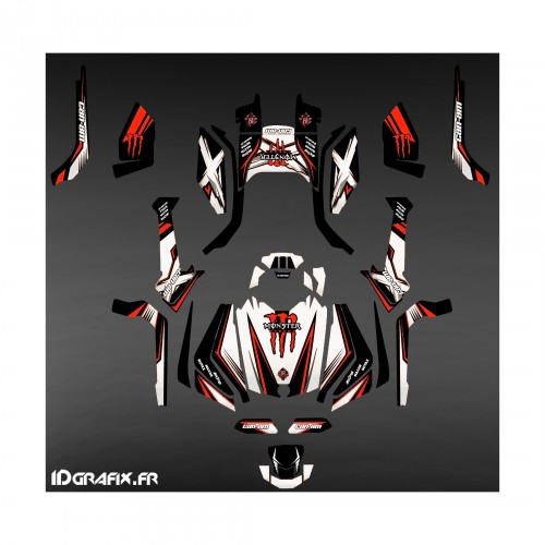 Kit décoration Monster Edition (Blanc/rouge) - IDgrafix - Can Am Outlander G2